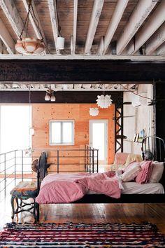 bedding, beds, exposed beams, loft bedrooms, dream
