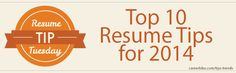 """""""Top 10 Resume Tips for 2014"""" by CareerBliss. Rev up your job search campaign in 2014 using the ideas outlined in this article."""