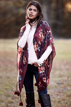 Garden of Dreams Kimono - anthropologie.com I love this look.  Great for a fall shopping day or coffee with a friend.
