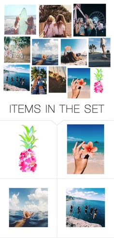 """""""Tumblr Summer Collage"""" by mmd32 ❤ liked on Polyvore featuring art"""