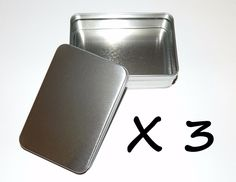 3 X 6-oz Rectangular Slip Lid Survival Metal Tin Can Box Container - Crafts Use in Sporting Goods, Outdoor Sports, Camping & Hiking, Emergency Gear, Other Emergency Gear   eBay