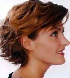 Short, curly and wavy hairstyle number 45.