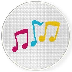 FREE for June 17th 2016 Only - CMY Notes Cross Stitch Pattern