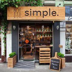 Un proyecto de diseño corporativo de marca y de interiores que nos encanta es Simple. Un restaurante de comida rápida de nueva generación en Ucrania,sencillo y