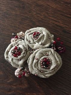 Denim Flowers, Cloth Flowers, Burlap Flowers, Lace Flowers, Fabric Flowers, Fabric Ribbon, Fabric Art, Fabric Crafts, Textile Jewelry