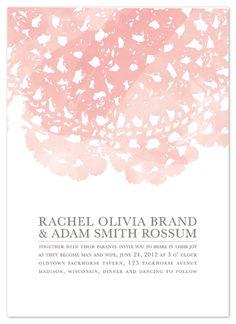wedding invitations - Watercolor and Doilies by Bethany Anderson