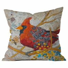 Love this pillow. I miss the cardinals from my childhood. We don't have them here in the Pacific Northwest. :: Made in the USA for DENY Designs. Design by Elizabeth St Hilaire Nelson