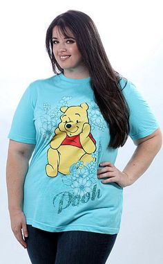 ee3d5f0a8fead Plus Size Disney Winnie The Pooh Bear Aqua Plus Size T-Shirt  25.25 Plus  Size