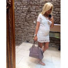 Get this maternity look for less Stylish Maternity, Maternity Wear, Maternity Dresses, Maternity Fashion, Maternity Style, White Lace Maternity Dress, Lace Dress, Pregnancy Looks, Pregnancy Outfits