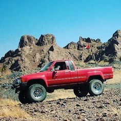 What its all about. #1984 #toyota #pickup exploring the badlands of #Arizona. Super straight and clean. #sano #solid #heat #keepitsimple #toyotatough #4wdto #4wdtoyotaowner #4wdtoyotaownermagazine