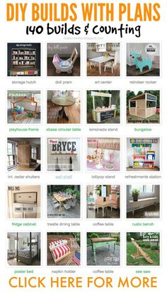 over 140 diy build projects, furniture, gifts and games