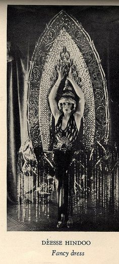"""'Deesse Hindoo' costume by House of Worth    From the book """"A Century of Fashion"""" by Jean-Philippe Worth, 1928."""