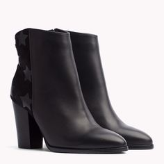 7892da5a1 Image for Leather Ankle Boot from TommyUK Tommy Hilfiger, Leather Heeled  Boots, Stylish,