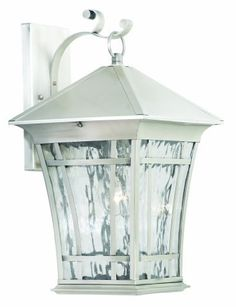 Thomas Lighting Sl9488-41 Hancock One-Light Outdoor Wall Lantern, Satin Pewter by Thomas Lighting. $99.86. From the Manufacturer Thomas Lighting established in 1919 is known for it's style and quality, the Hancock Exterior Collection offers a transitional craftsman look in a variety of sizes. Available in bronze and brushed nickel finishes Product Description SL948841 Features: -Water seedy glass panels.-Height ...