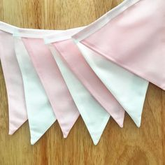 Baby pink and white double sided bunting - 8 metres, nursery, baby shower Nursery Bunting, Wedding Bunting, Bunting Flags, Pink White, Baby Shower, Handmade, Etsy, Babyshower, Hand Made