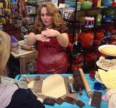 Nadia Demonstrating Springerle Cookies