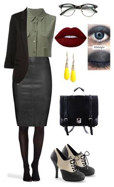 """""""a day at the office"""" by freespirt3339 on Polyvore featuring Lime Crime, SPANX, Equipment, Jitrois, INC International Concepts, WithChic, outfit and LIPSTICK"""