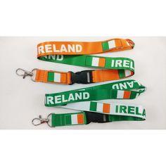 2 Ireland Flag Lanyards/keychain