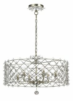 Crystorama (449-SA) Willow Collection Interior Chandelier shown in Antique Sliver & Clear Glass Star