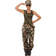 Khaki Camo Lady Costume from BuyCostumes.com  #Military #Costume