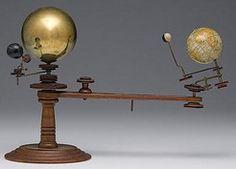 Orrery; Laings Planetarium, Trippensee Mfg, 4 Globes, 1897 Patent.