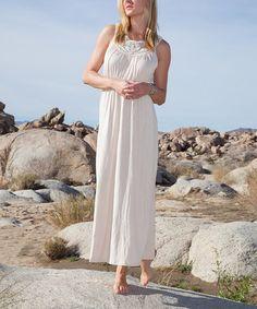 Loving this Beige Katherine Maxi Dress on #zulily! #zulilyfinds