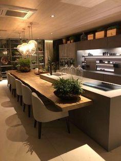 50 modern kitchen ideas decor and decorating ideas for kitchen design 36 - Design della cucina Kitchen Room Design, Luxury Kitchen Design, Home Decor Kitchen, Interior Design Kitchen, New Kitchen, Home Kitchens, Kitchen Ideas, Kitchen Designs, Dream Kitchens