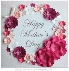 $Fleurs de Papier ~クラフトパンチや花紙で作る立体のお花いろいろ~-クラフトパンチで母の日カード