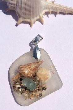 Beach Memories OOAK shells sand rare sea by GulfCoastTreasure, $29.99