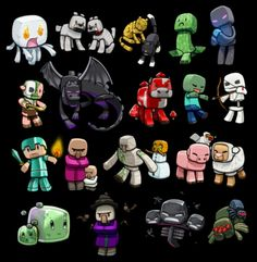 Minecraft cartoon Characters