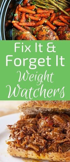 15 Delicious Fix-It and Forget-It Weight Watchers Meals #weightloss