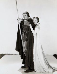 Errol Flynn & Olivia De Havilland in the adventures of Robin Hood. My favorite!