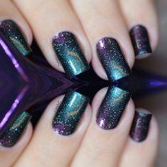 Galaxy nails                                                                                                                                                                                 More