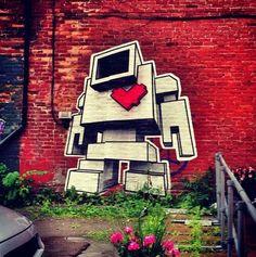 Lovebot Street Art Toronto Street, Street Art