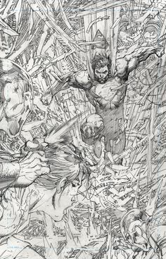 Superman Unchained #9 by Jim Lee, and inked by Scott Williams *