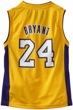 NBA Los Angeles Lakers Youth Kobe Bryant Home Replica Jersey  (Gold, Large) adidas. $41.95