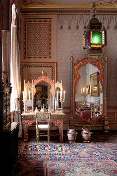 Multi colored lantern at Het Loo Palace /// more on Interiorator.com