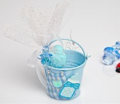 Mavi Kovalı Erkek Bebek Şekeri