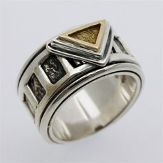 Triangle men ring | by philippeplanas.com #timeless #handcrafted #jewelry $240