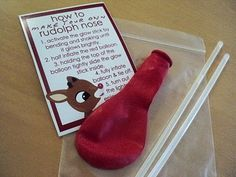 Rudolph Noses...Such a cute gift idea, need to remember for next year!
