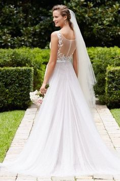 WToo Marnie bridal gown. Light and airy, this soft a-line gown features a…