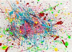 Rezultat imagine pentru Jackson Pollock Mural