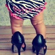 photo shoot idea for 6 month old girl | Sooo cute!!! Baby Photography 6 month old baby girl in mommy's heels ...