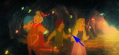The Black Cauldron - At first, you might not realize who that is, but it's actually Tinkerbell from Peter Pan.