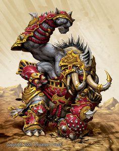 """Bronzeback Titan"" by Andrea Uderzo   Privateer Press : Hordes : Evolution   #Fantasy #Hordes #Creature"