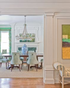 Suzie Katie Rosenfeld Design  Green Dining Room With Gorgeous Awesome Blue Green Dining Room Review