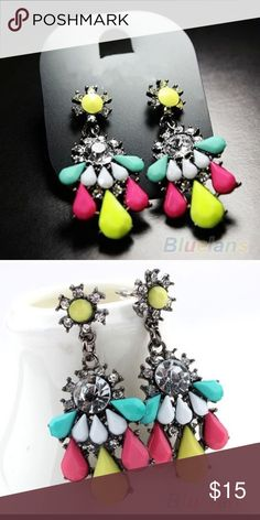 HP 6/17!TOP TRENDSColorful  Earrings These earrings are so pretty and are NWT and never worn.  Jewelry Earrings