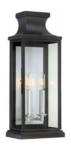 "Savoy House 5-5911 Brooke 2 Light 20"" Tall Outdoor Wall Sconce Black Outdoor Lighting Wall Sconces Outdoor Wall Sconces"