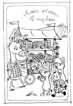 Embazac farm - postcard sketch - 10x15cm