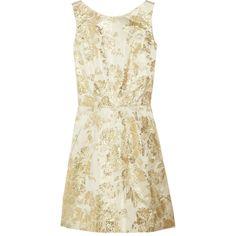 Rochas Brocade-satin dress ($515) ❤ liked on Polyvore